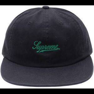 Supreme Scripted 6-Panel Hat - Green Script FW17